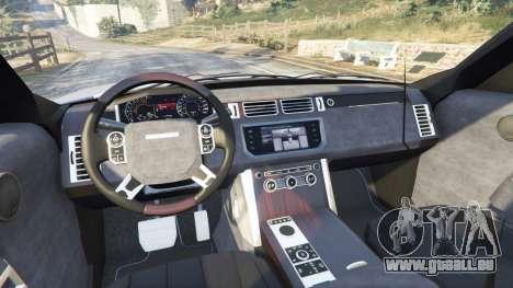 GTA 5 Range Rover (L405) Vogue 2013 arrière droit vue de côté