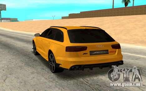 Audi RS6 Avant 2015 ABT für GTA San Andreas zurück linke Ansicht
