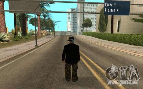 Varios Los Aztecas Gang Member v5 pour GTA San Andreas deuxième écran