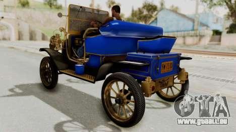 Ford T 1912 Open Roadster v2 für GTA San Andreas zurück linke Ansicht
