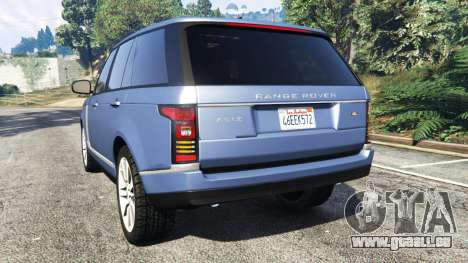 GTA 5 Range Rover (L405) Vogue 2013 arrière vue latérale gauche