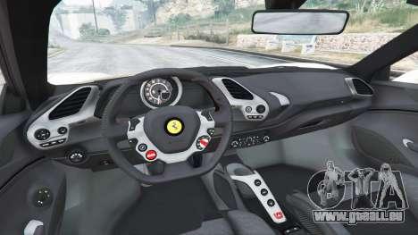 GTA 5 Ferrari 488 GTS arrière droit vue de côté