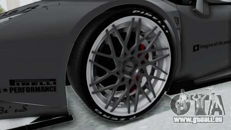 Lamborghini Huracan LP610-4 2015 Liberty Walk LB pour GTA San Andreas vue arrière