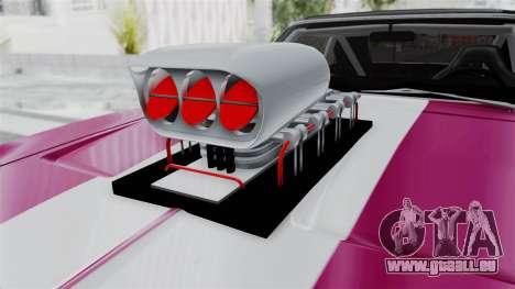 Dodge Charger 1969 Drag pour GTA San Andreas vue arrière