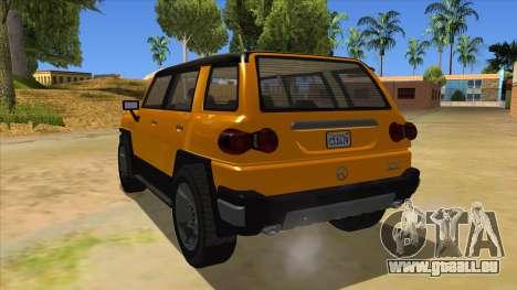Karin Beejay XL pour GTA San Andreas sur la vue arrière gauche