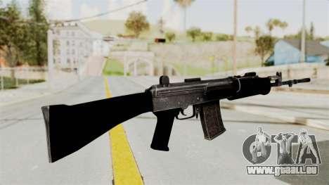 IOFB INSAS Plastic Black Skin für GTA San Andreas zweiten Screenshot