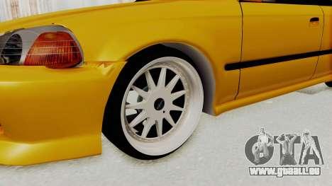 Honda Civic Vermidon für GTA San Andreas Rückansicht