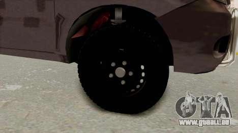 Toyota Hilux 2014 Army Libyan für GTA San Andreas Rückansicht