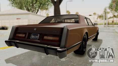 GTA 5 Dundreary Virgo Classic pour GTA San Andreas vue de droite