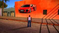 Audi R8 Wall Grafiti pour GTA San Andreas