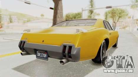 GTA 5 Declasse Sabre GT2 B IVF pour GTA San Andreas vue de droite