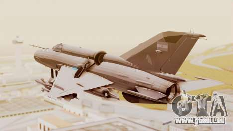 MIG-21 BIS Air Force Argentinien für GTA San Andreas linke Ansicht