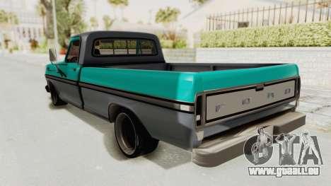Ford F-150 Black Whells Edition pour GTA San Andreas laissé vue
