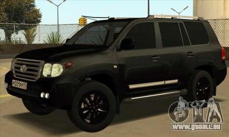 Toyota Land-Cruiser 200 pour GTA San Andreas laissé vue