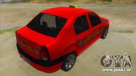 Dacia Logan Scoala pour GTA San Andreas vue de droite