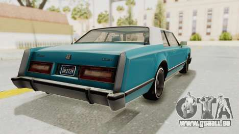 GTA 5 Dundreary Virgo Classic Custom v3 pour GTA San Andreas sur la vue arrière gauche