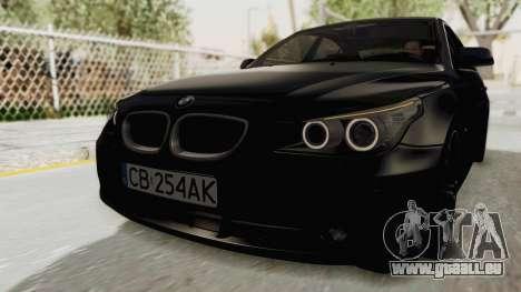 BMW 530D E60 pour GTA San Andreas sur la vue arrière gauche