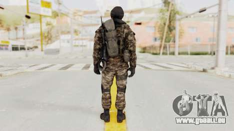 CoD MW3 Russian Military SMG v2 pour GTA San Andreas troisième écran