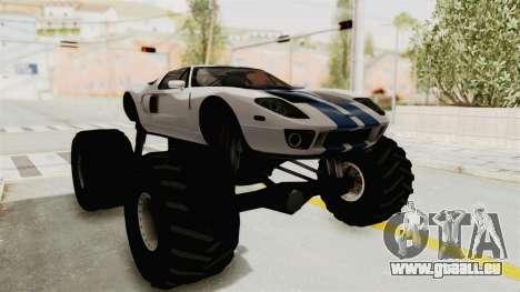 Ford GT 2005 Monster Truck für GTA San Andreas rechten Ansicht
