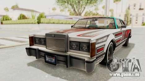 GTA 5 Dundreary Virgo Classic Custom v3 für GTA San Andreas obere Ansicht