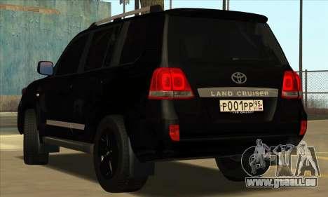 Toyota Land-Cruiser 200 pour GTA San Andreas sur la vue arrière gauche