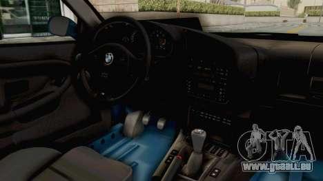 BMW 325i E36 pour GTA San Andreas vue intérieure
