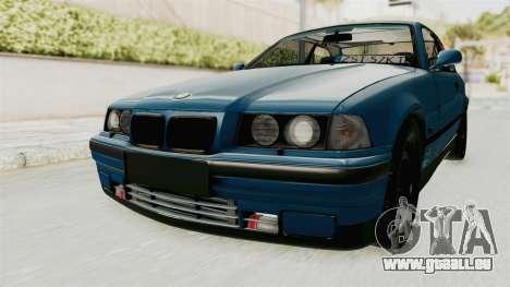 BMW 325i E36 pour GTA San Andreas sur la vue arrière gauche