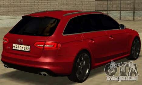 Audi S4 Avant pour GTA San Andreas laissé vue