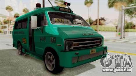 Dodge Ram Van Microbus 1977 für GTA San Andreas