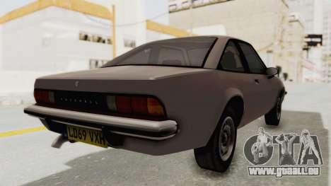 Vauxhall Cavalier MK1 Coupe pour GTA San Andreas laissé vue