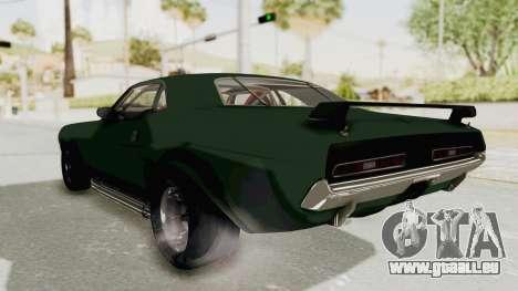 Dodge Challenger 1971 pour GTA San Andreas vue de droite