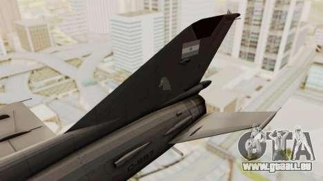 MIG-21 BIS de la Force Aérienne Argentine pour GTA San Andreas sur la vue arrière gauche