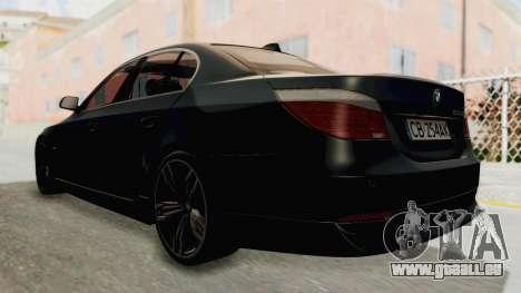 BMW 530D E60 pour GTA San Andreas laissé vue