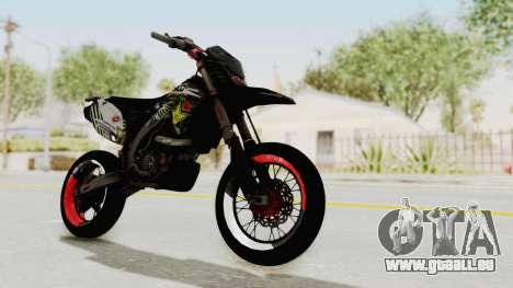 Kawasaki KLX 150S Supermoto pour GTA San Andreas vue de droite