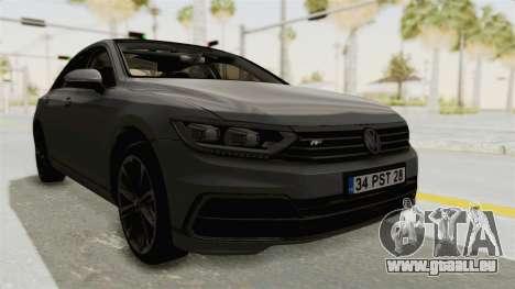 Volkswagen Passat B8 2016 RLine HQLM pour GTA San Andreas vue de droite