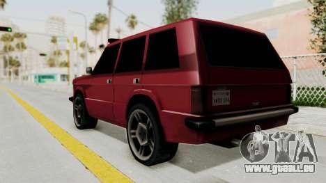 Huntley LR pour GTA San Andreas laissé vue