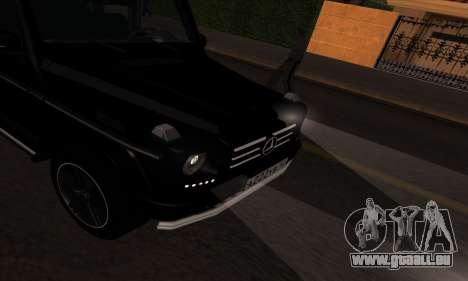 Mercedes G55 Kompressor für GTA San Andreas Rückansicht