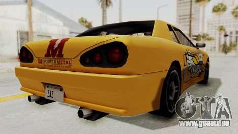 Dewbauchee Elegy pour GTA San Andreas vue de droite