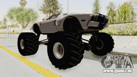Ford GT 2005 Monster Truck pour GTA San Andreas laissé vue