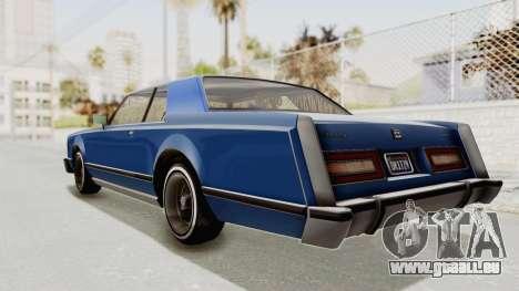 GTA 5 Dundreary Virgo Classic Custom v1 IVF pour GTA San Andreas laissé vue