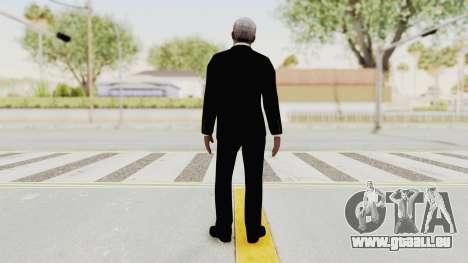 Batman Begins - Morgan Freeman pour GTA San Andreas troisième écran