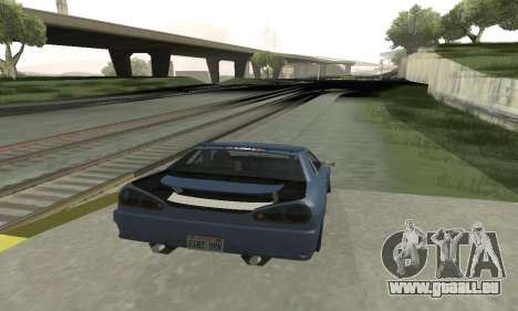 Standard Élégie avec un aileron rétractable pour GTA San Andreas vue de droite