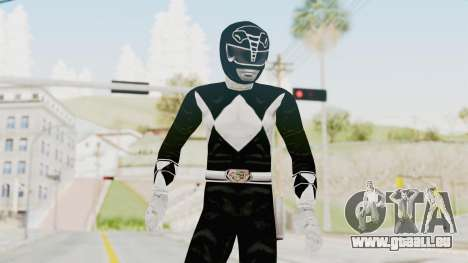 Mighty Morphin Power Rangers - Black für GTA San Andreas