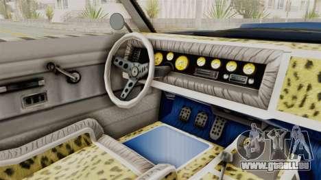 GTA 5 Declasse Sabre GT2 A für GTA San Andreas Innenansicht