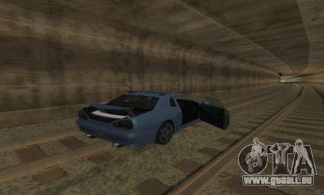 Standard Élégie avec un aileron rétractable pour GTA San Andreas vue de dessus