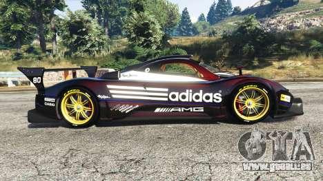 GTA 5 Pagani Zonda R v1.1 vue latérale gauche