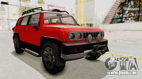 GTA 5 Karin Beejay XL IVF für GTA San Andreas rechten Ansicht