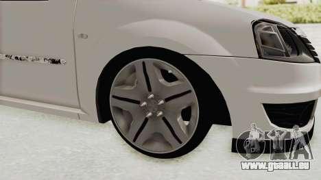 Dacia Logan 2013 für GTA San Andreas Rückansicht