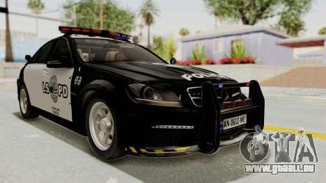 Mercedes-Benz C63 AMG 2010 Police v2 für GTA San Andreas
