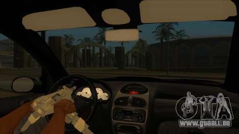 Peugeot 206 MO Edit pour GTA San Andreas vue intérieure